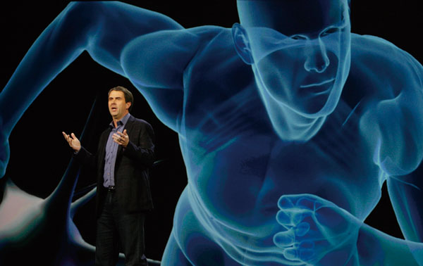 In this Jan. 6, 2010 file photo, Microsoft Entertainment and Devices Division President Robbie Bach speaks at the International Consumer Electronics S...