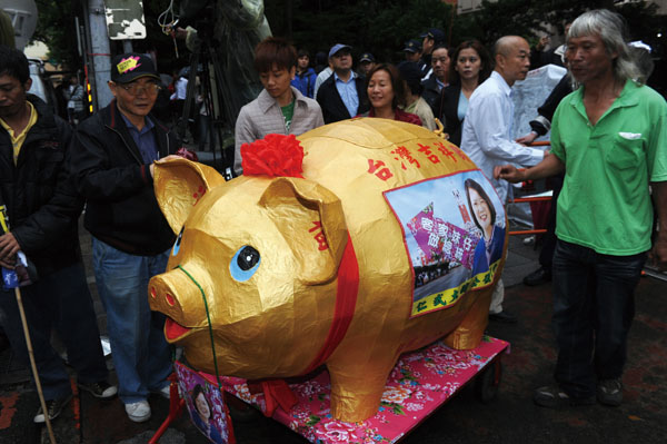 DPP raises over NT$200 million from 'three little pigs' campaign