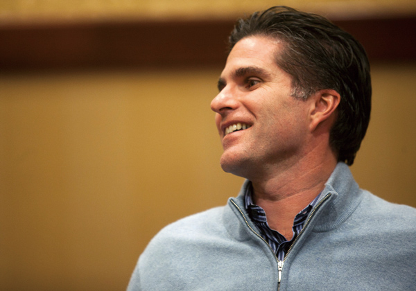 Tagg Romney, oldest son of former Massachusetts Gov. Mitt Romney, who is in the bid for the Republican presidential nomination, in Des Moines, Iowa, J...