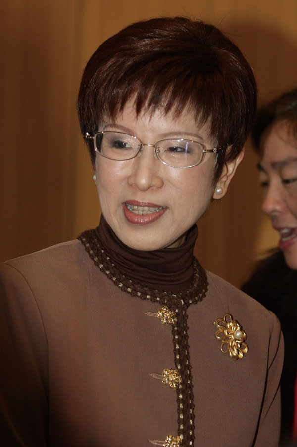 Kuomintang (KMT) legislator Hung Hsiu-chu is shown in the photo. (Central News Agency)