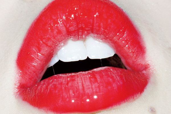 """An undated handout photo of Terry Richardson's """"Red Lips,"""" from his Ohwow show. (The New York Times)"""