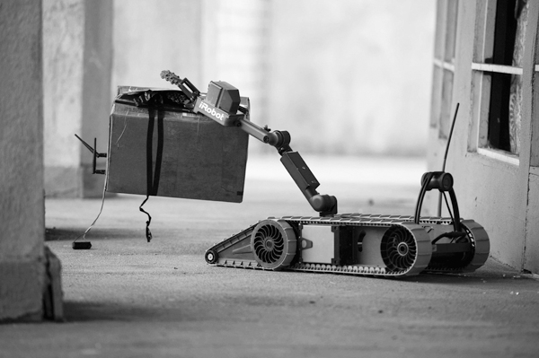 An undated handout photo of iRobot Corporation's 310 SUGV, which can gather information in dangerous conditions and lift up to 15 pounds. (The New Yor...