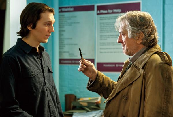"Paul Dano, left, stars as ""Nick Flynn"" and Robert De Niro stars as ""Jonathan Flynn"" in Paul Weitz's ""Being Flynn,"" a Focus Features release. (Courtesy..."