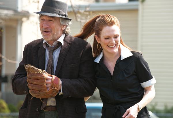 "Robert De Niro, left, stars ""Jonathan Flynn"" and Julianne Moore stars as ""Jody Flynn"" in Paul Weitz's ""Being Flynn,"" a Focus Features release. (Courte..."
