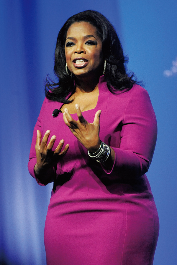 """In this Oct. 15, 2011 file photo, Oprah Winfrey speaks during The Oprah Magazine's """"O You"""" event in Atlanta. (Associated Press)"""