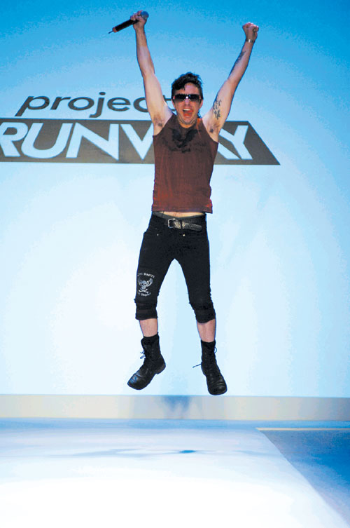 Designer Jeffrey Sebelia on the runway at the Project Runway Spring 2007 during Olympus Fashion Week in New York, New York, Friday.