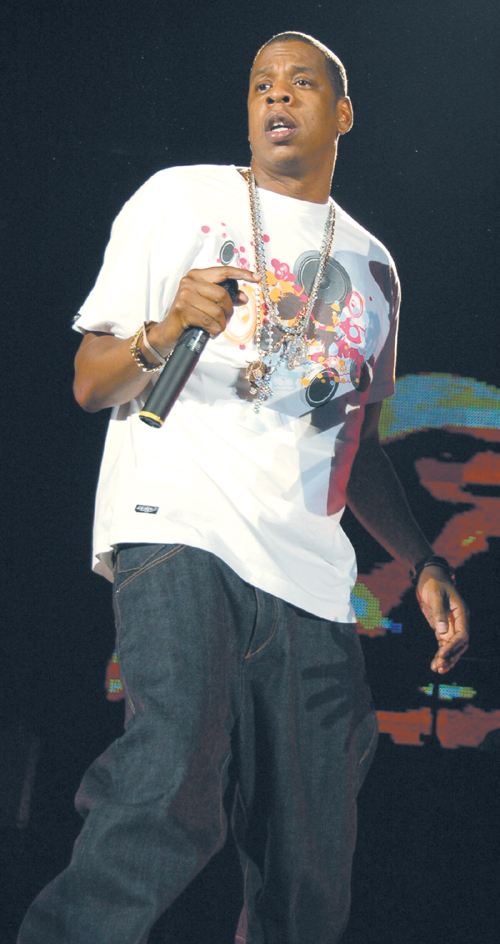 Jay-Z perfoms at the Taipei Dome last Saturday.