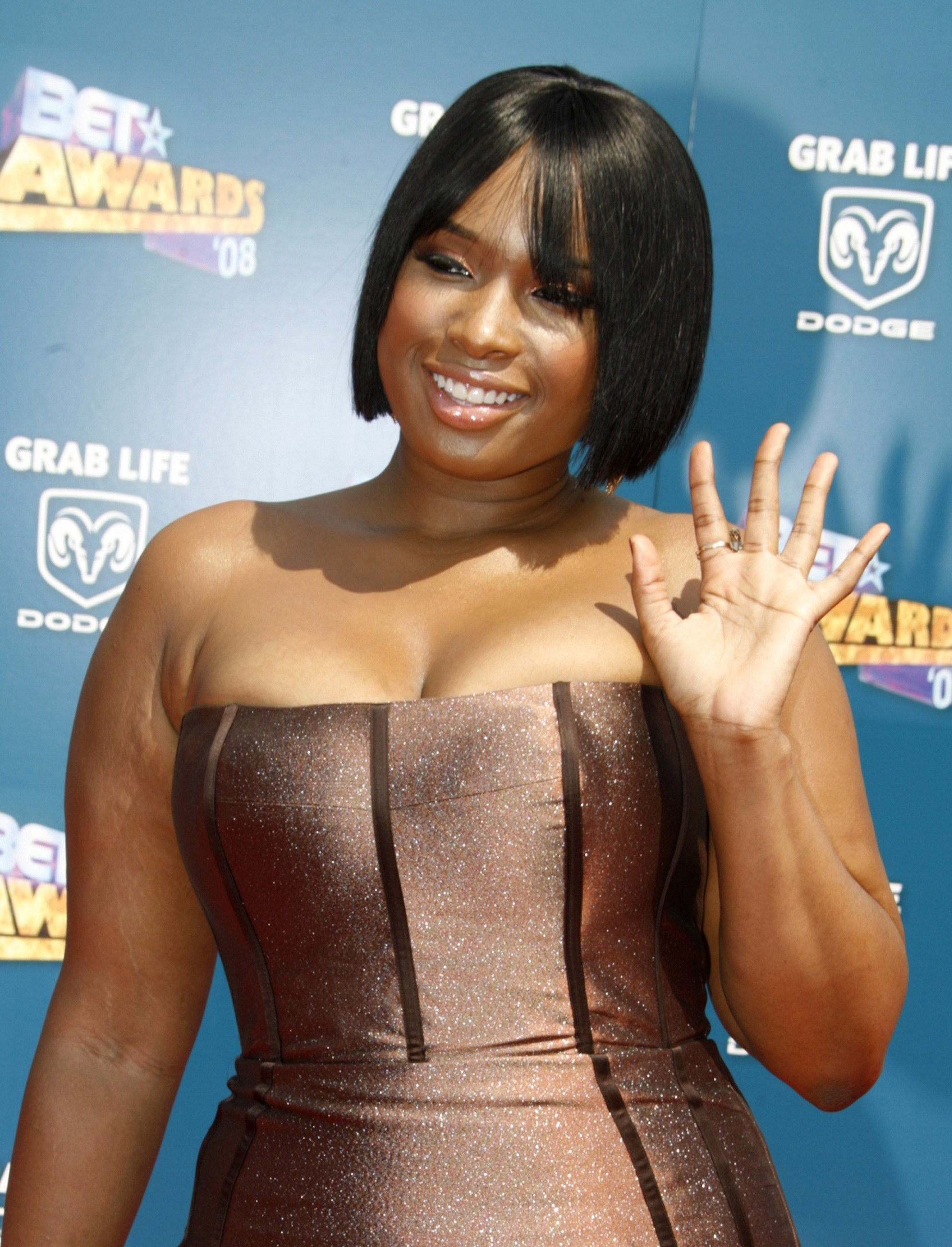Actress Jennifer Hudson is pictured at the 2008 BET Awards in Los Angeles in this June 24 photo.