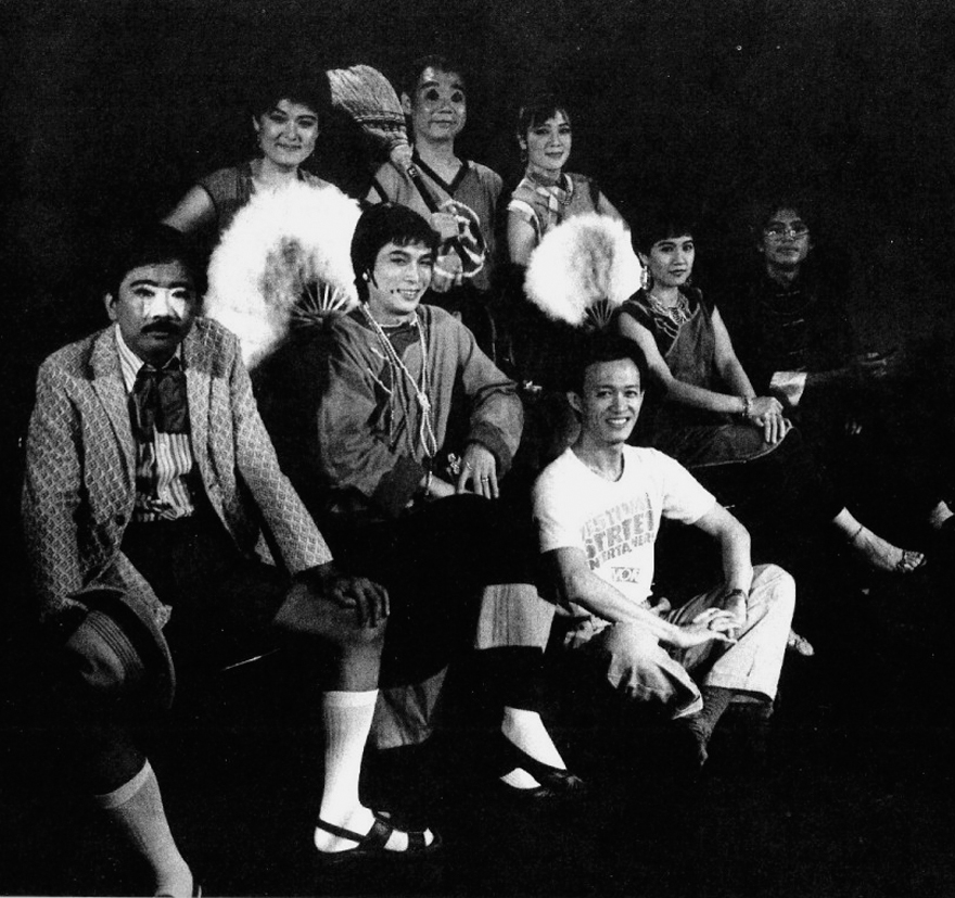 """The cast of """"The Romance of Ho Chu,"""" circa 1980, is led by Chin Shih-chieh, shown seated in front. The play will be restaged with a few original cast ..."""