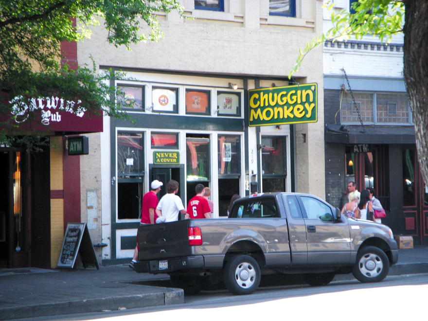 The Chuggin's Monkey bar was frequented by 'The Real World' cast when the MTV reality show was filmed in Austin, Texas.  Fort Worth Star-Telegram