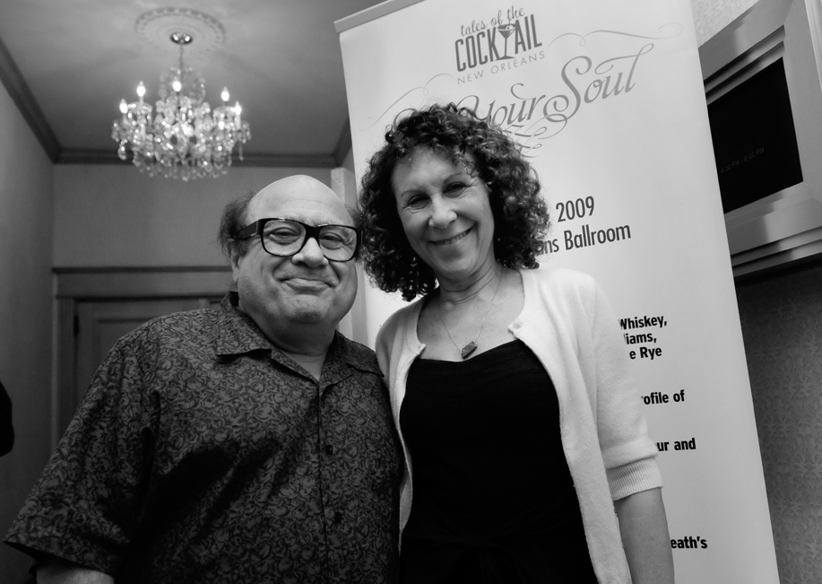 Actor Danny DeVito and his wife Rhea Perlman attend the 'Tales of the Cocktail' while promoting their lemon liqueur 'Limoncello' in New Orleans, Louis...