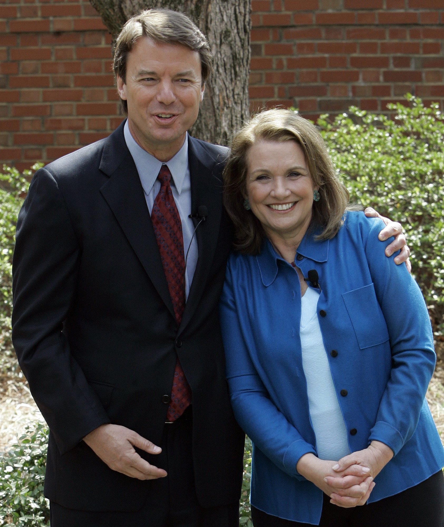 This March 2007 file photo shows two-time presidential candidate John Edwards and his wife Elizabeth during a news conference in Chapel Hill, North Ca...