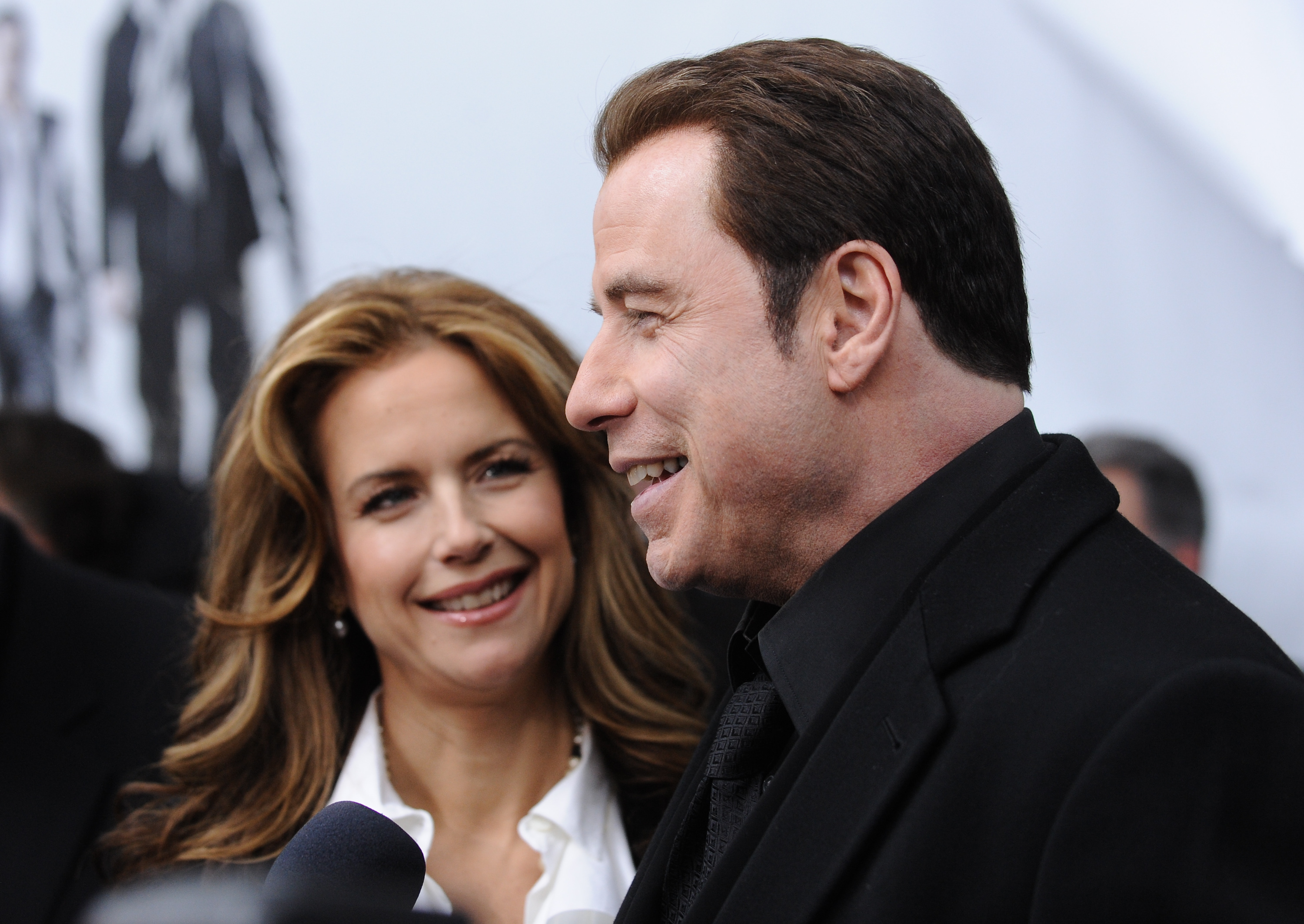 Actor John Travolta and wife actress Kelly Preston attend the premiere of 陟rom Paris With Love' at the Ziegfeld Theatre on Thursday.