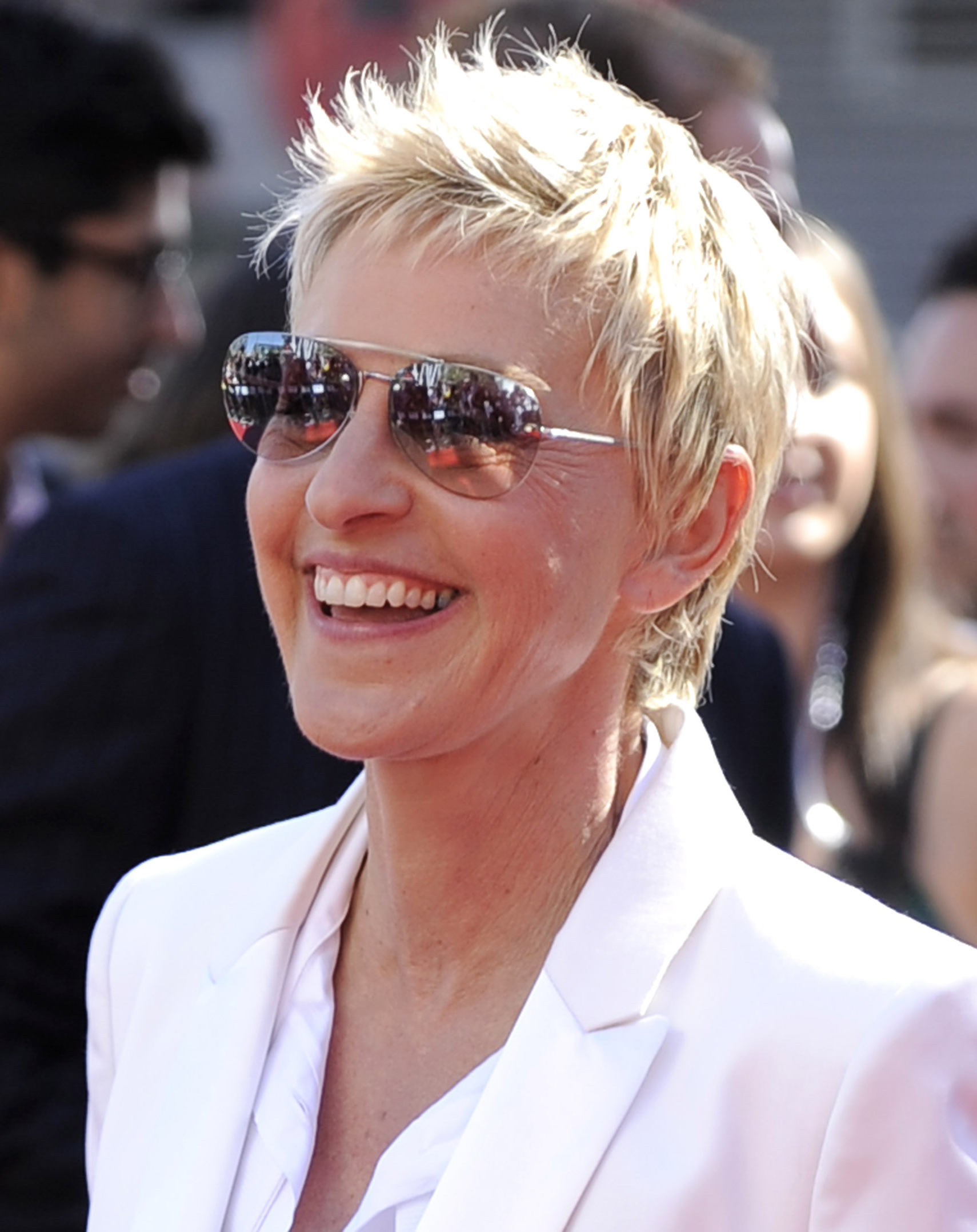 Ellen DeGeneres arrives at the `American Idol' finale in Los Angeles, California in this May 26 file photo.