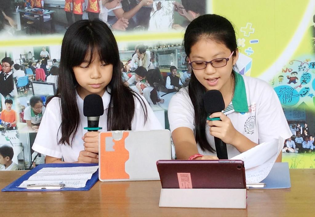 台北市國語實驗國小開播「實小之音——空中圖書館」。(教育部提公)