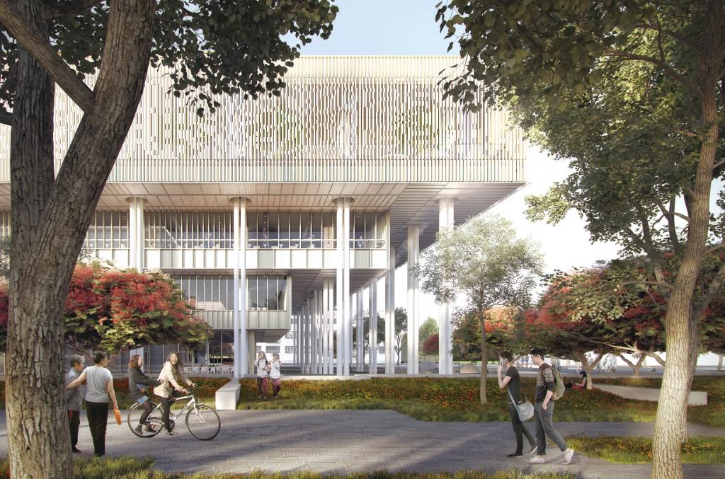 南市圖新總館期許成為各年齡層都會想進去的圖書館。(張瑪龍陳玉霖聯合建築師事務所提供)