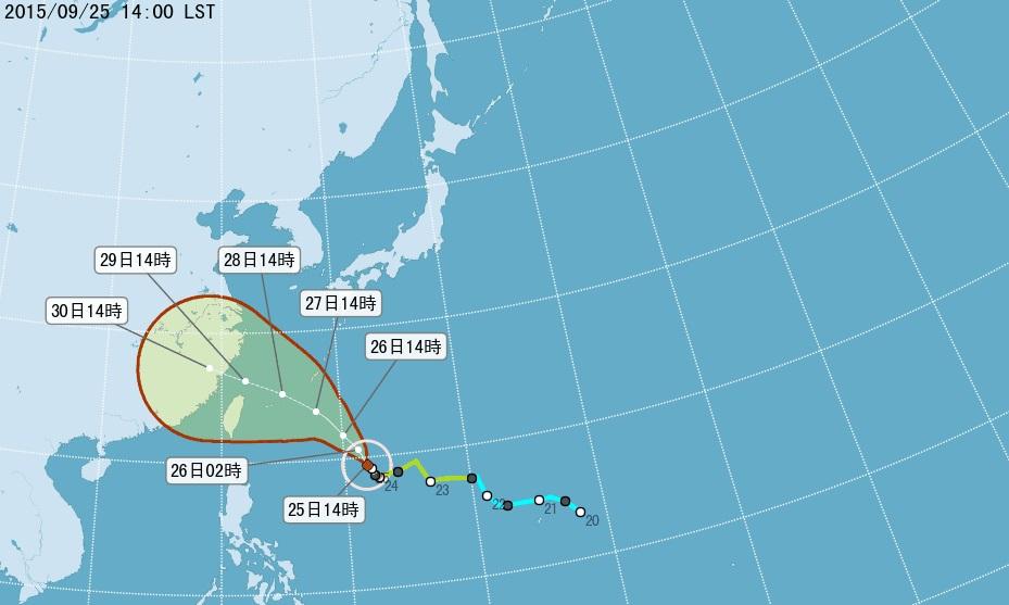 杜鵑擾中秋 氣象局估27日發布發海警