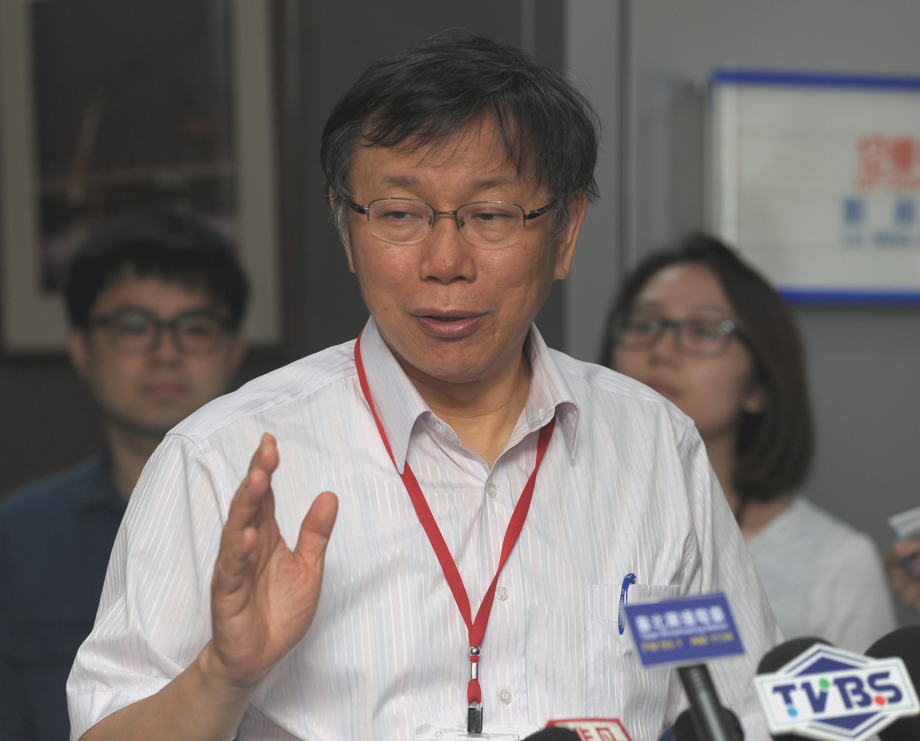 Ko Wen-je questioned by Keelung City Councilor on bus terminal