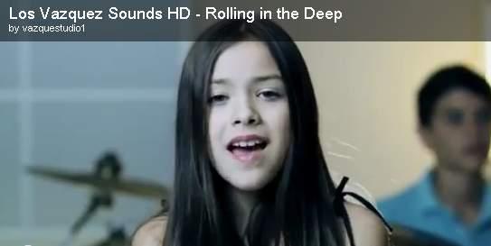 網路上爆紅一位墨西哥10歲小女孩安吉(Angie Vazquez),聲線似艾微兒,3兄妹組成的合唱團,近日因翻唱英國歌手愛黛兒(Adele...