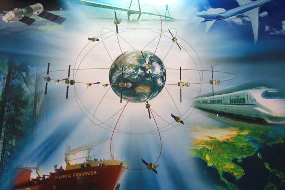 中國北斗衛星定位系統工作示意圖。翻攝自網路。