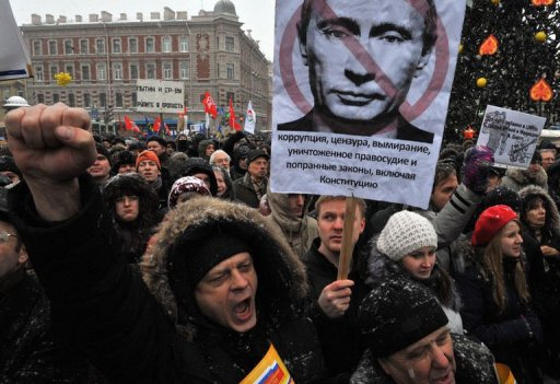 Russian protestors rally to against Putin's set of activist's jailing
