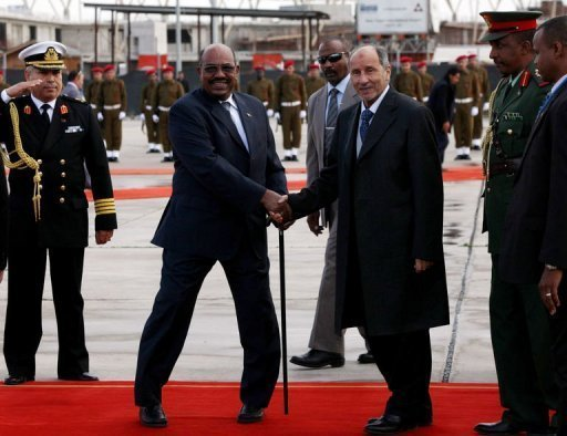Sudan President's first visit to Libya after Gadhafi regime ousted
