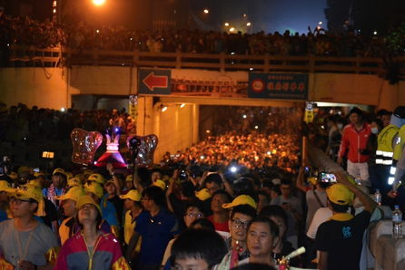 Progression of Dajia Matsu pilgrimage procession delayed