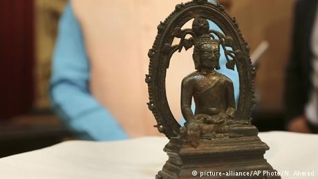 Stolen Buddha statue spotted in UK, returned to India