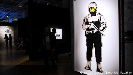 Bemused street artist says 'nothing to do with' major Russian exhibition