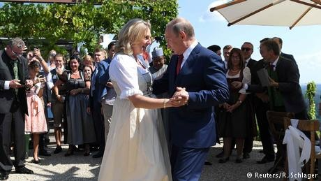 Vladimir Putin dances, raises eyebrows at Austrian minister's wedding