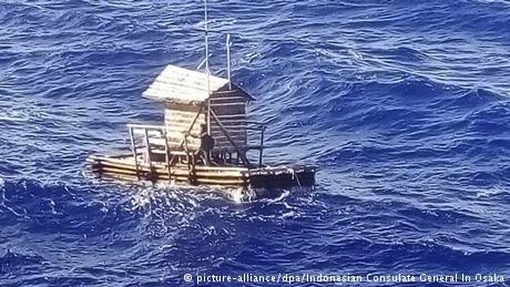 Indonesian teenager survives 49 days adrift at sea in 'fishing hut'
