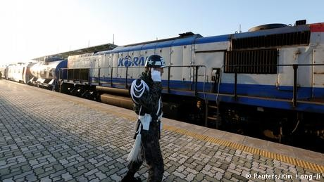 South Korean train crosses DMZ into North Korea