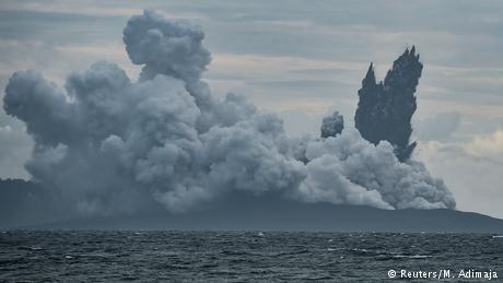 Indonesia's Anak Krakatau volcano shrinks to quarter-size after eruption