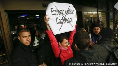 Far-right protesters target European Lesbian Conference in Ukraine