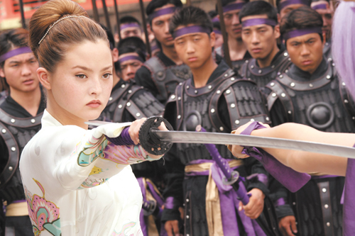 """Devon Aoki, left, and Holly Valance play female fighters in """"DOA: Dead or Alive,"""" which opens in theaters in Taiwan today."""