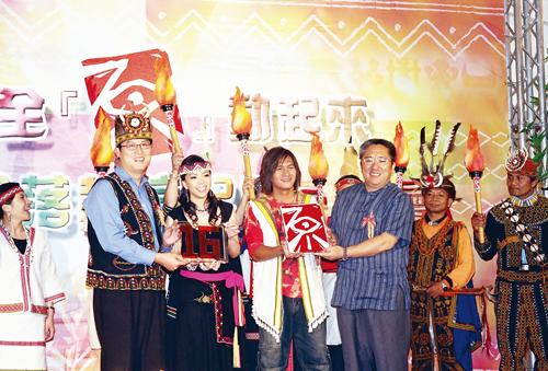 Walis Pelin, chairman of the Council of Indigenous Peoples, beams at the inauguration of TV station devoted to the country's indigenous peoples and cu...