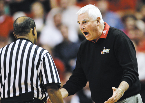 Bob Knight later during the same game.