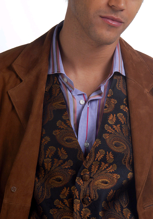 For men, a party at an upscale restaurant means smart dressing in duds like this Paul Simon And Company shirt by Etro Sport and 'Union Square' waistco...