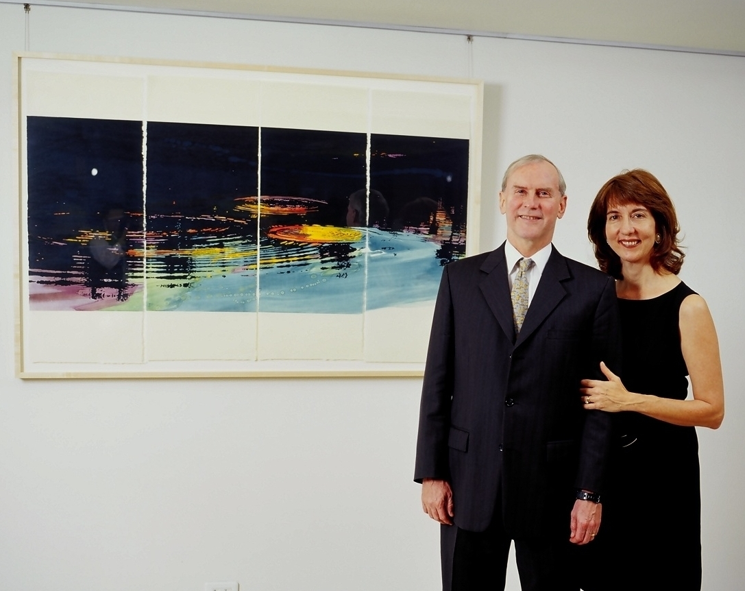 Stephen M. Young, director of the American Institute in Taiwan, and Mrs. Young.