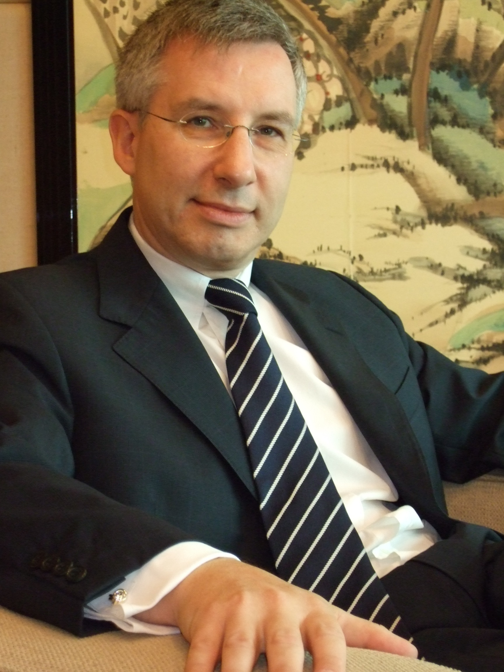 Jean-Claude Poimboeuf, director of the French Institute in Taipei