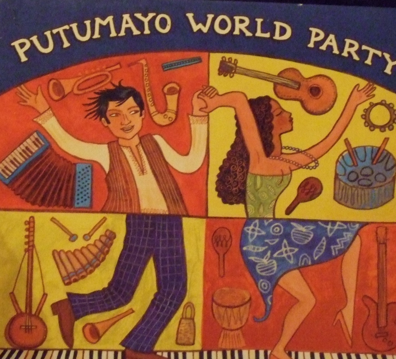 """""""Putumayo World Party"""" features a feel-good collection of zouk, salsa, ska, compas, reggae, and zydeco, all guaranteed to enliven any party."""