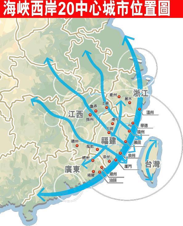"""中國""""海西特區""""將台 灣納入規劃。"""