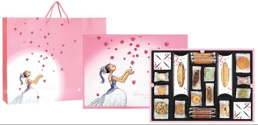 「當幾米故事的浪漫 遇見義美的真誠」記者會,現場不僅提供了結合幾米作品的花嫁囍餅系列之外,同時也展示許多義美食品與台灣藝術家作品的結合