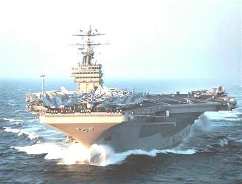 """美國航母""""喬治.華盛頓號""""將可能參加美、韓演習。(圖片來源/AP)"""