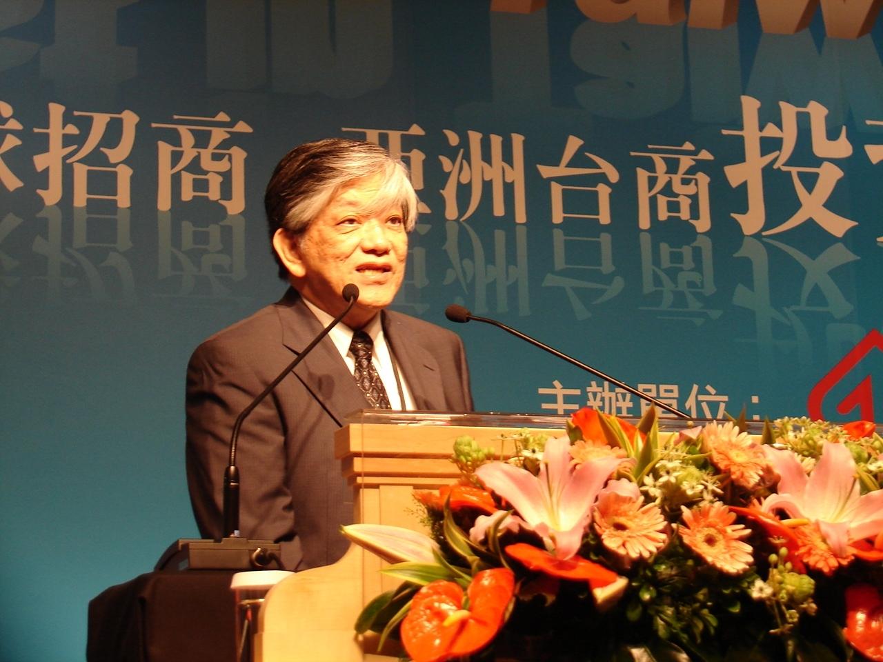 義美聯電董事長高志明表示,義美聯電整合數位影音多媒體方面,已經領先全世界,歡迎台商回來洽談合作。(記者Jimi Liao攝影)