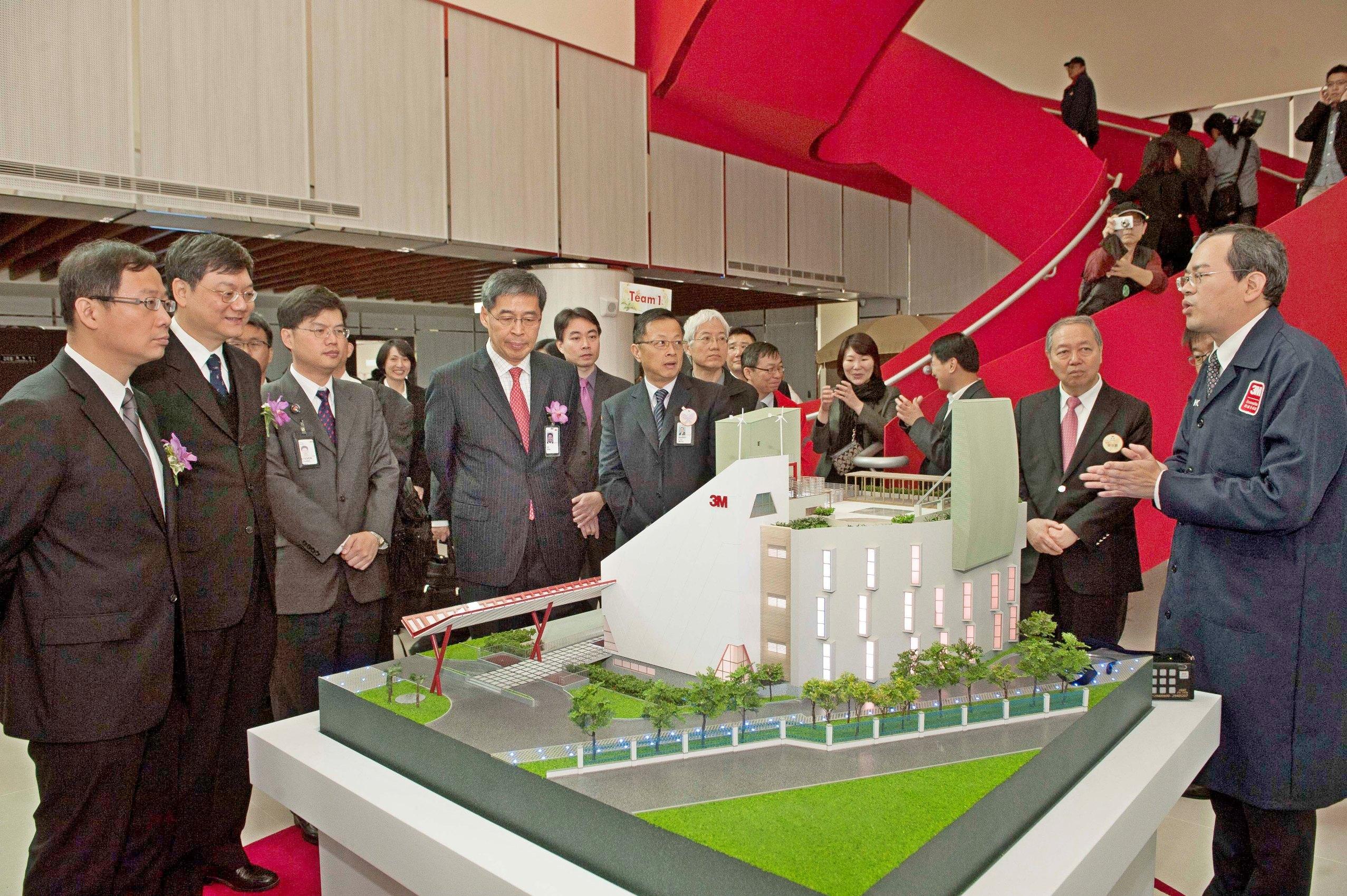 3M台灣研發中心為3M亞太區第一座綠建築研發中心,將3M各項研發概念與創意產品完整呈現.
