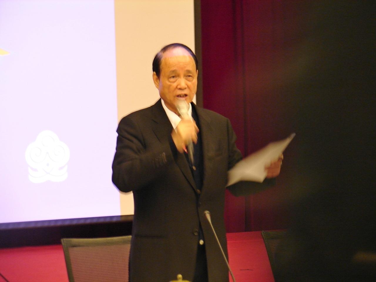 海基會董事長林中森。(記者Jimi Liao攝影)