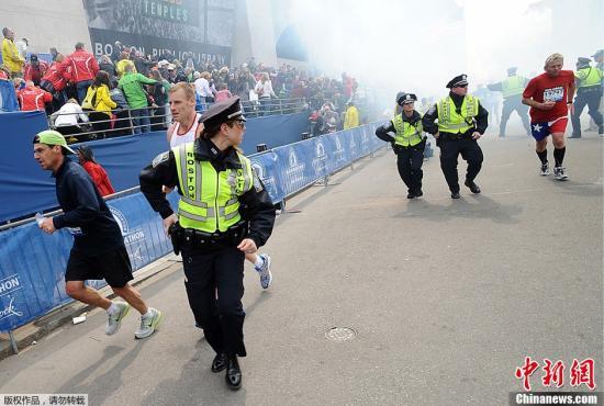 波士頓馬拉松賽爆炸案,已造成3人死亡,逾百人受傷。(中新網)