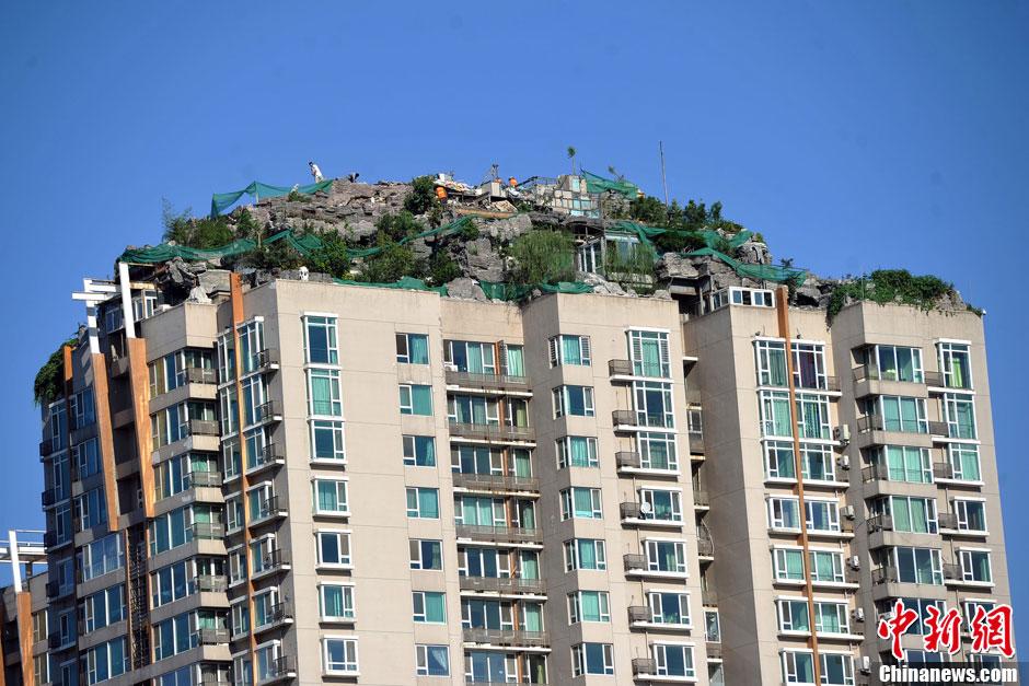 北京最牛建築,8/26日開始拆除。(中新網提供)