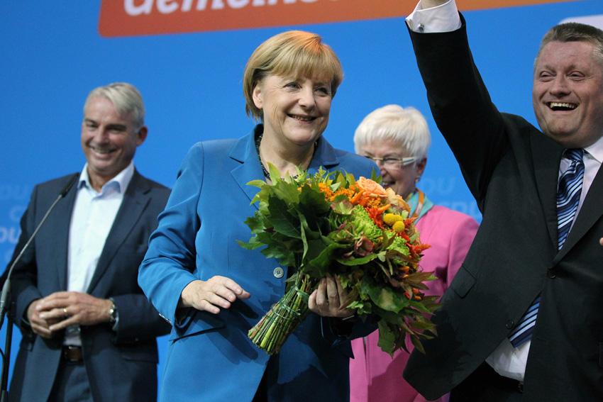 德國大選投票初步調查結果顯示,德國總理梅克爾贏領導的聯盟黨獲得了超過42%的選票,成為聯邦議院選舉的最大贏家。(截自網站)